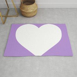Heart (White & Lavender) Rug