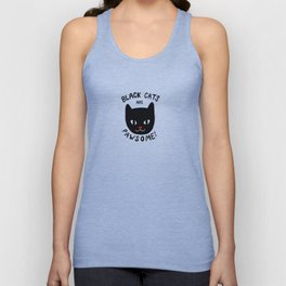 Black Cats are Pawsome! Unisex Tank Top