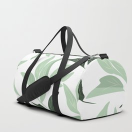 Abstract modern green pastel color leaves floral Duffle Bag