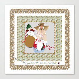 Once upon a time, one Christmas Eve Canvas Print
