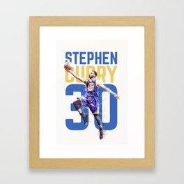 Steph Curry Warriors Framed Art Print