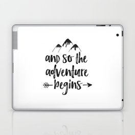 And So The Adventure Begins Sign,Adventure Awaits,Adventure Nursery,Kids Room Decor,Quote Posters,Pr Laptop & iPad Skin