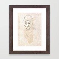 One line Bruce Springsteen Framed Art Print