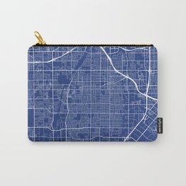 Santa Ana Map, USA - Blue Carry-All Pouch