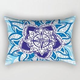 Atlantean Voyage Blue Rectangular Pillow