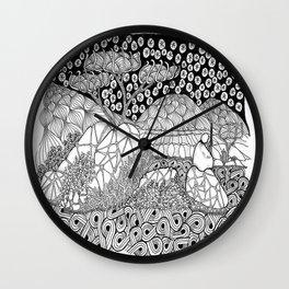 Zentangle Night Solitude Wall Clock