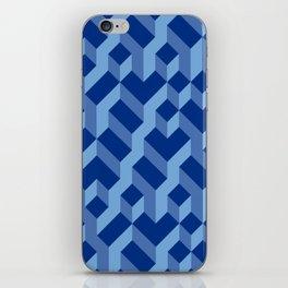 Blue Fresh Pattern iPhone Skin