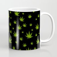 weed Mugs featuring Weed Weed Weed by Spyck