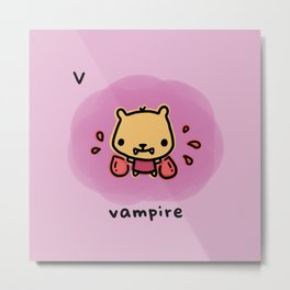 V for vampire Metal Print