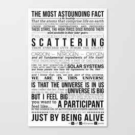 Neil DeGrasse Tyson Science Manifesto Canvas Print