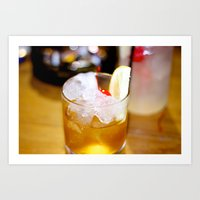 Cherry Glass. Art Print