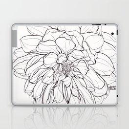 Ink Illustration of a Dahlia Laptop & iPad Skin