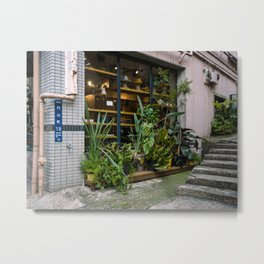 Outdoor plants decor in Shibuya Metal Print