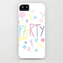 Pastel party iPhone Case