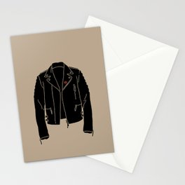 Leather Jacket - HANDSOME DEVIL'S CLUB (3/3) Stationery Cards