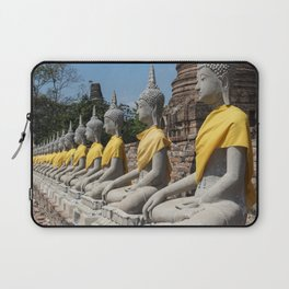 Row of Buddha statues, Ayutthaya, Thailand Laptop Sleeve