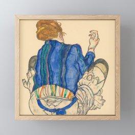 "Egon Schiele ""Seated Woman, Back View"" Framed Mini Art Print"