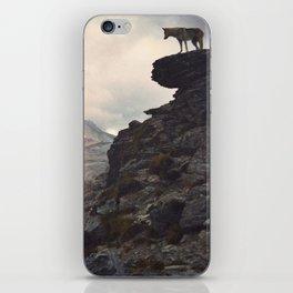 Vintage wolfdog landscape iPhone Skin