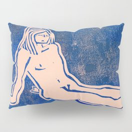 Bathing Girl in Blue/Pink Pillow Sham