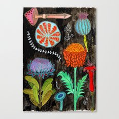 Gardening At Night Canvas Print