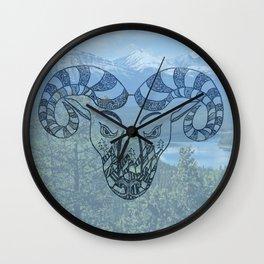 Big Horn Sheep Wall Clock