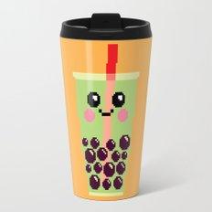 Happy Pixel Bubble Tea Travel Mug