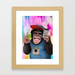 Selfie monkey Framed Art Print