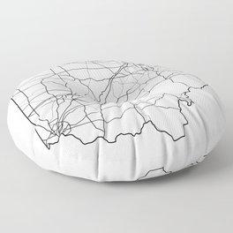 Ohio White Map Floor Pillow