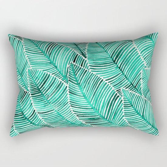 Tropical Turquoise Rectangular Pillow