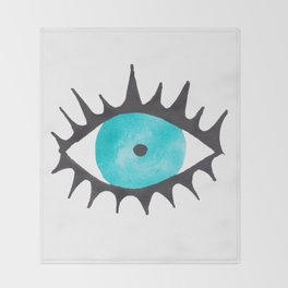 Evil Eye IV Throw Blanket