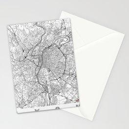 Lyon Map Line Stationery Cards