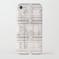 blueprint iPhone & iPod Cases featuring Blueprint by hoopderscotch