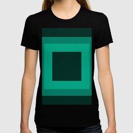 Dark Green Square Design 3 T-shirt
