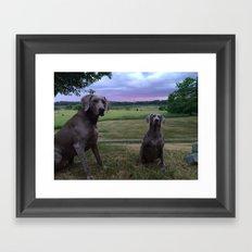 blue sunset Framed Art Print