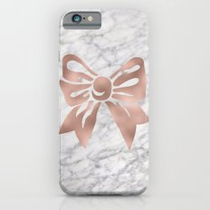 Rose gold marble bow Slim Case iPhone 6s
