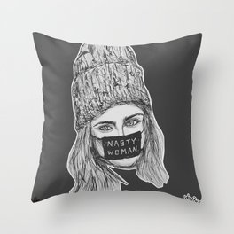 (Cara - Nasty Woman) - yks by ofs珊 Throw Pillow