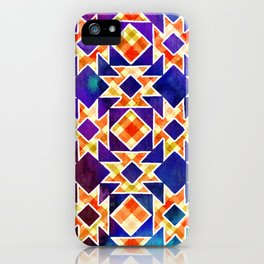 Multicolor Pattern, Including: Cerulein, Electric Violet, Mountain Meadow, Persian Blue + See Below iPhone Case
