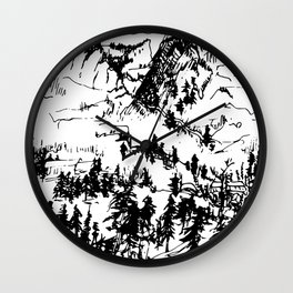 This is where it happened last autumn Wall Clock