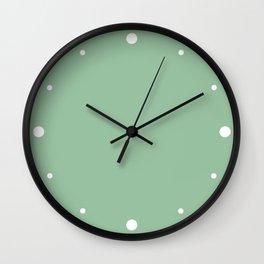 Grove Green Color Wall Clock
