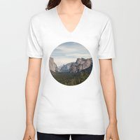 yosemite V-neck T-shirts featuring Yosemite Valley by Laura Ruth