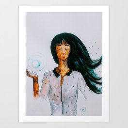 Boule d'energie Art Print