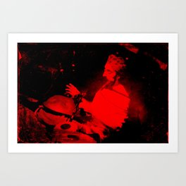 red tabla Art Print