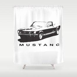 Mustang Design Shower Curtain