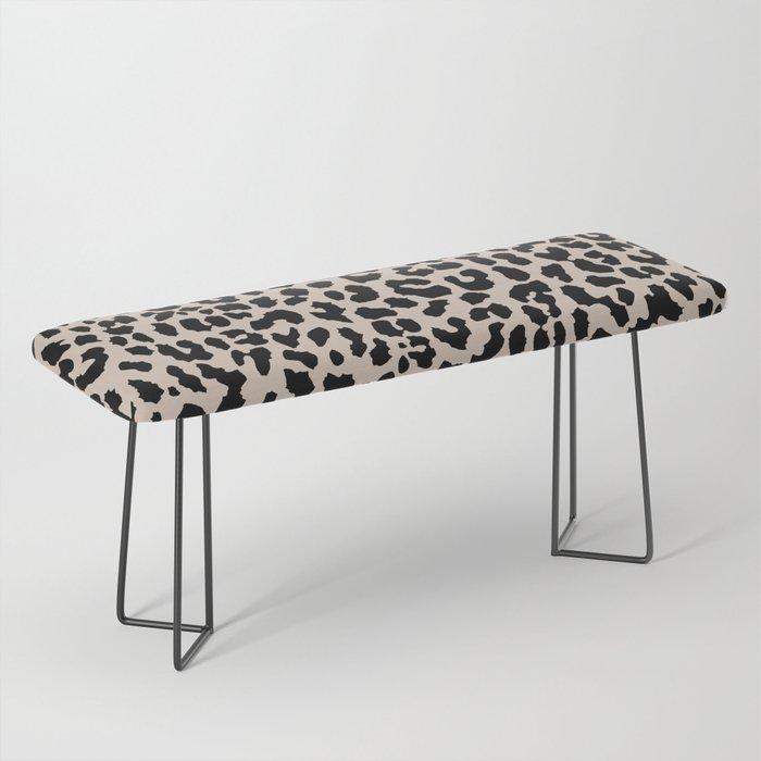 Tan Leopard Bench