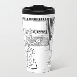 Piss test Metal Travel Mug