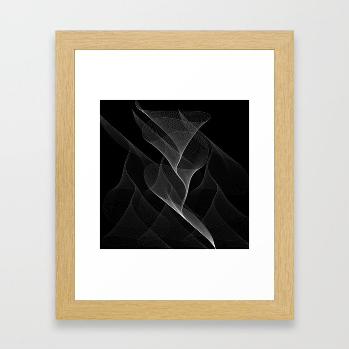 Black and White Flux #minimalist #homedecor #generativeart Framed Art Print