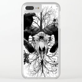 Wings and Horns of Death Clear iPhone Case