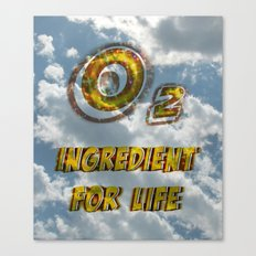Oxygen Ingredient for Life Canvas Print