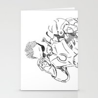 tony stark Stationery Cards featuring Iron Man (Tony Stark) by  Steve Wade ( Swade)