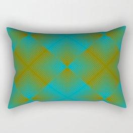 gradient squares pattern aqua olive Rectangular Pillow